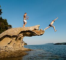 Leap of Faith: campbell Bay, Mayne Island by toby snelgrove  IPA