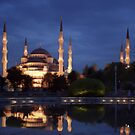 Istanbul Blue mosque at night by viaterra-photos