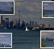 The Toronto CN Tower...... a sunday afternoon... by Larry Llewellyn