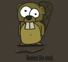 Beavers like wood. T-Shirt