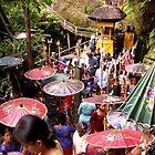 Balinese Umbrellas, Campuan, Bali by JonathaninBali