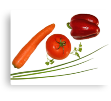 red vegetables Canvas Print