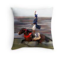 DOUBLE HORSE RIDER Throw Pillow