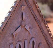 Headstone of metal,Menzies West Australia by robynart
