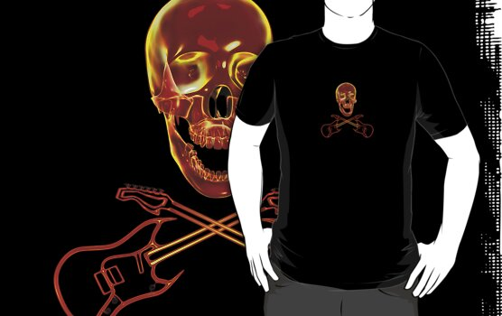 Rock and Roll Skull by Packrat