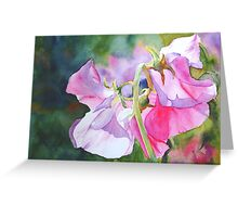 Pretty Peas Greeting Card