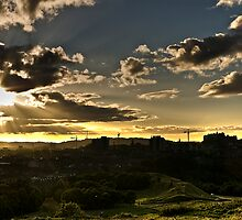 Edinburgh Sunset by rgstrachan