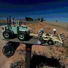 Olympic Highway Tractor Letterbox by muz2142