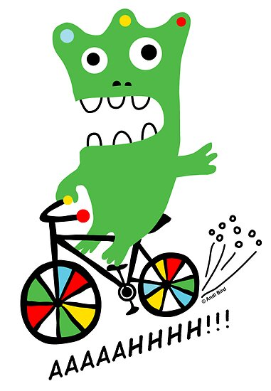 Critter Bike ll - card  by Andi Bird