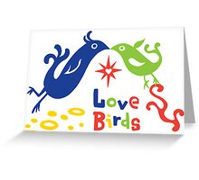 Love Birds  ll - card  Greeting Card