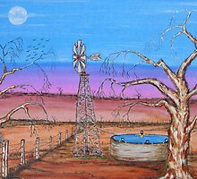 """Ned Kelly Gang's Pool & Old Man Emu""  Original Sold by EJCairns"