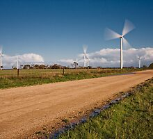 Wind Power in Motion by AllshotsImaging