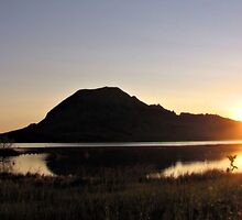 Sunrise Over Bear Butte by WILDBRIMOWILDMAN