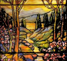 tiffany glass card by cynthiab