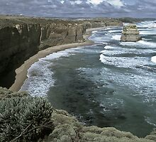 1986 East of 12 Apostles Great Ocean Rd by Fred Mitchell