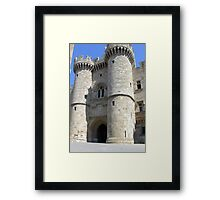 Rhodes - Grand Palace Fortress Framed Print