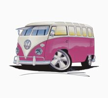 VW Splitty (23 Window) Camper Van Pink Kids Clothes