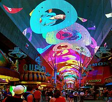 The Fremont Street Experence by Lanis Rossi