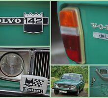 Volvo 142 collage by Paola Svensson