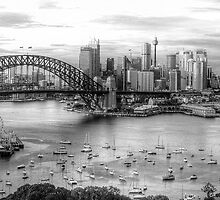 The City -  A Study in Black & White- HDR Experience Series by Philip Johnson
