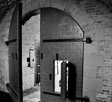 Fort Barrancas' Archs and Doors II (B&W) by Magricely Diaz