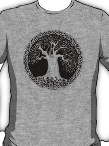 Celtic Wisdom Tree (Black version) T-Shirt