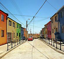 Multicolor facades, Valparaiso (Chile) by TheSpaniard