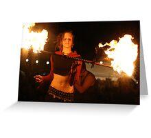 Fire dance 5 Greeting Card