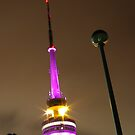 Telstra Tower at Night by Mortalimage