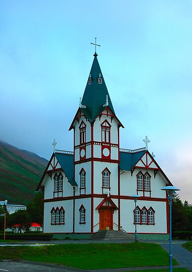 "Temples - ""The Church of Husavik (IS)"" by Denis Molodkin"