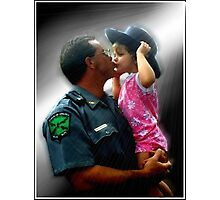 Police Angel Photographic Print
