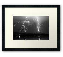 Lightning Storm 08.05.09 Framed Print