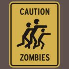 Zombie Warning by powerpig