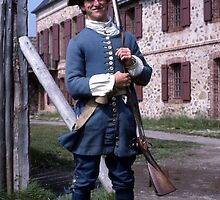 Soldier at Fortress Louisboug, Cape Breton, Canada by Johannes  Huntjens
