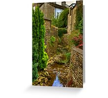 Village Stream - Dent. Greeting Card