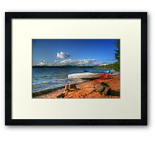 Blue Lake, Ontario, Canada Framed Print