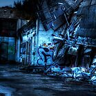 Abandoned Nightime Garage by Demoshane