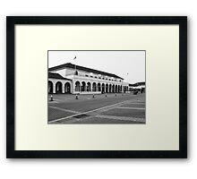 The emblematic Pavilion in Bondi Beach in B&W Framed Print