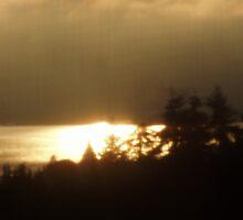 Sunrise Over the Columbia River #4 by Dawna Morton