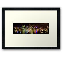 Brisbane Riverside, Australia, by Night Framed Print