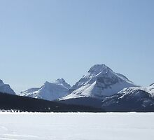 Bow Lake, Alberta, Canada, April 2007. by Phil Mitchell