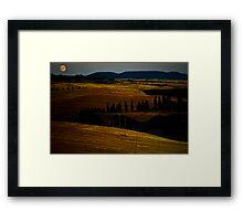 Tuscan Moon Framed Print