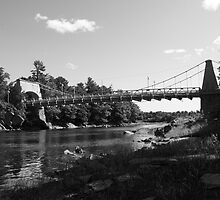 Chain Bridge from Newburyport  BW by AntonLee