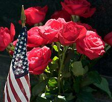 Memorial Day Roses in Arlington Cemetery by Paul Bohman