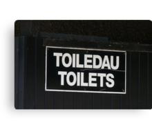 Welsh Toilet Sign Canvas Print