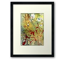 Mike on a trike Framed Print
