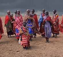 MASAI DANCERS - KENYA by Michael Sheridan