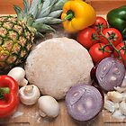Pizza Dough and Ingredients by John Hooton