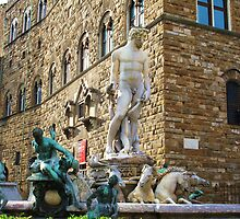 Statue of Neptune, Florance, Italy by creativetravler