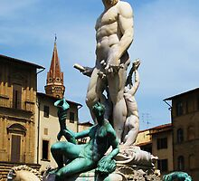 Statue of Neptune in Florence, Italy by creativetravler